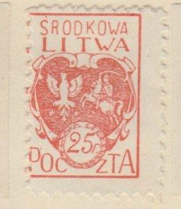 Central Lithuania Mittellitauen Lituanie Lituania 1920 25f MH* A8P11F131