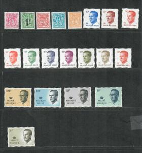 Belgium Sc#1084-1103 M/NH/VF, Complete Set, Cv. $59.10