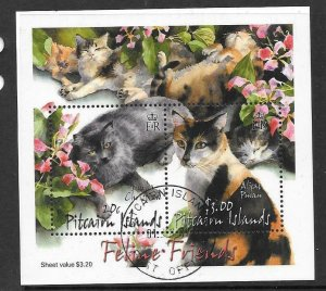PITCAIRN ISLANDS SGMS622 2002 CATS FINE USED