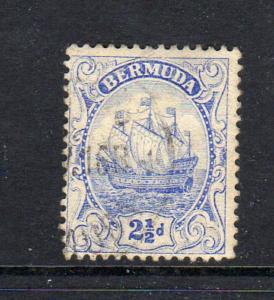 BERMUDA #44  1912  2 1/2p CARAVEL    F-VF USED  a