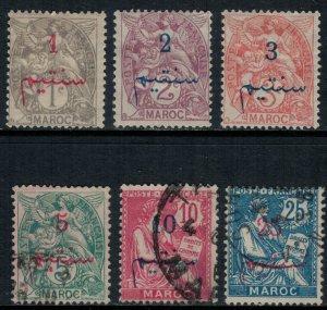 French Morocco #26-30,3*/u  CV $6.80