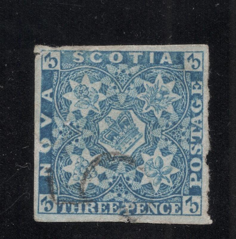 Nova Scotia #2b Pale Blue - Used - Flawed