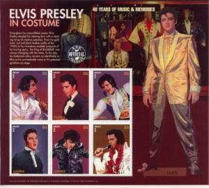 1996 Gambia Elvis Presley 40 Years of Music - MS6 1822 MNH