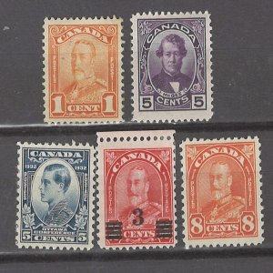 COLLECTION LOT # 3092 CANADA 5 MH STAMPS 1927+ CV+$24