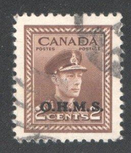CANADA #O2 VF, Used.   CV 7.50    ...   1151161