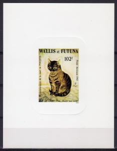 Wallis and Futuna 1983 Sc#C122 CAT by FOUJITA (1926) DELUXE Souvenir Sheet MNH