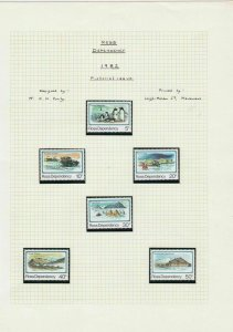Ross Dependency 1982 Pictorial Issue Stamps Page ref R 16787