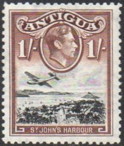 Antigua 19381/- black and brown (St John's Harbour) MH