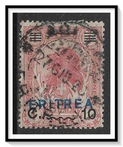 Eritrea #83 Lion Blue Overprint Used