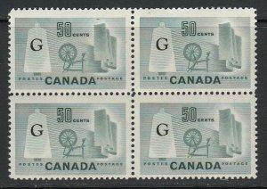 Canada, Sc O38a (SG O201a), MNH block of four
