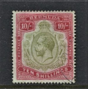 STAMP STATION PERTH Bermuda #53 KGV VFU - Wmk.3 CV$425.00 - Beauty