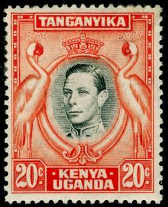 KENYA UGANDA TANGANYIKA SG139, 20c black & orange, M MINT. Cat £42. P13 1/4