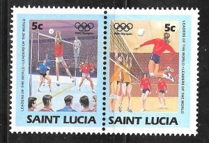 St Lucia 665: 5c Volleyball, MH, VF