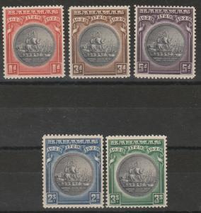 BAHAMAS 1930 TERCENTENARY SET