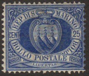 San Marino #14 MH 25-cent arms