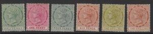 TOBAGO SG20/4c 1885-96 COLOURS CHANGED SET MTD MINT