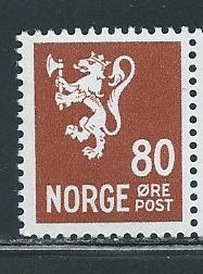 Norway 202A 80o Lion single MNH
