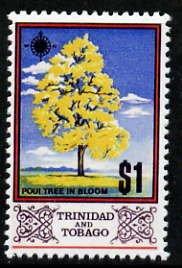 Trinidad & Tobago 1969 Poui Tree $1 with gold (Queen'...