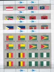 UN 1983 Scott 399-414a mnh Full Sheets scv $7.60 BIN $5.70