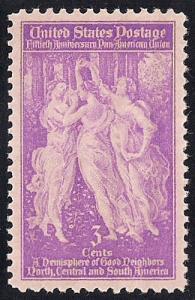 895 3 cents Pan American mint Stamp OG NH EGRADED SUPERB 99 XXF