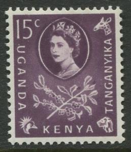 Kenya Uganda - Scott 122 - QEII Definitive -1960 - MLH - Single 15c Stamp