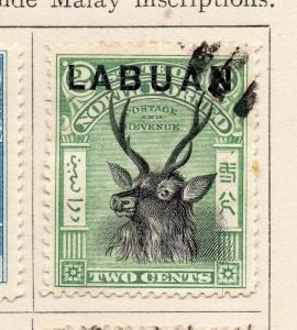 Labuan 1897-1900 Early Issue Fine Used 2c. Optd 215286