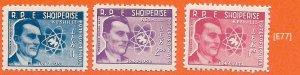 [E77] Albania 1959, 10 -Anniversary of World Council of Peace, MiNr.575-577, MNH