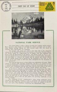 Hammond Card 1314 National Park Service Yellowstone National Park Cancel