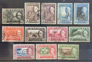 Malaya Selangor Definitive 1957-61 1c-$5 12V SG116-127 M2248