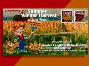 Ries Chapter BBQ Cover Features Farmer Ron & His Wieners. 1st Time on HipStamp!