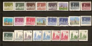 CANADA  STAMPS USED -HOUSE OF PARLIAMENT  DEFINITIVE LOT#185