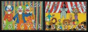 Faroe Is #414-5 MNH Set - Europa - Circus