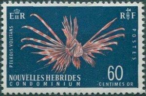 New Hebrides French 1963 SGF120 60c Lionfish MNH