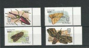 Tuvalu 1991 Insects Overprinted Specimen UMM SG 601/604