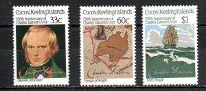 Cocos Islands 152-154 MNH