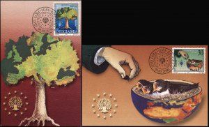 Yugoslavia. 2000. Nature conservation (Mint) Set of 2 Maxi Cards