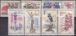 Czechoslovakia #1253-5, 1273-7  MNH  (Z4680)