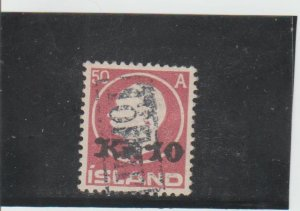 Iceland  Scott#  140  Used w/Revenue Cancel  (1925 Frederik VIII)