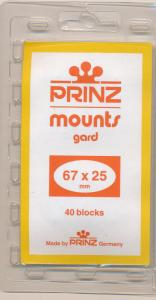 Prinz Scott Stamp Mounts Size 67/25 BLACK Background Pack of 40