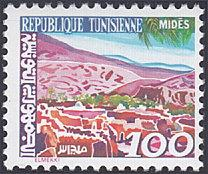 Tunisia # 740 mnh ~ 100m View of Mides