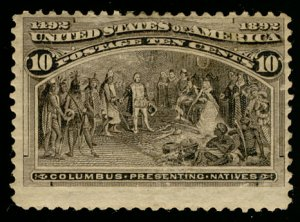 US US #237 SCV $140.00 VF mint hinged, bold fresh color,  nice margins all ar...