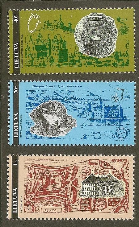 Lithuania   Scott 524-26      Castles               MNH