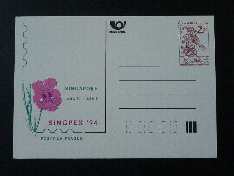 flower orchid Singpex 1994 Singapore postal stationery Czech Republic 98375