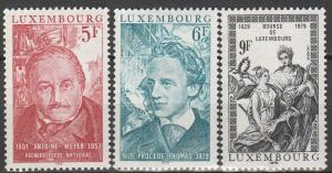 Luxembourg #627-9 MNH F-VF (V3764)