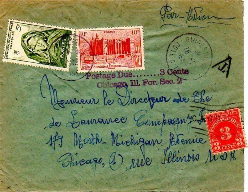 French West Africa 1952 Postal History