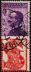 Italy. 1924 50c S.G.171o Fine Used