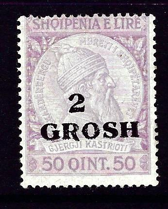 Albania 51 Hinged 1914 surcharge