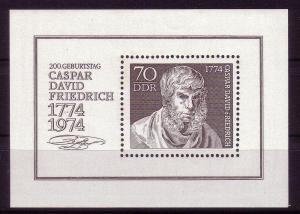 *DDR  Mini Sht. Sc. # 1562 Casper Friedrich Painter MNH 25