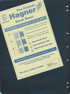 25 HAGNER 1 POCKET BLACK STOCK SHEETS 5 PACKAGES OF 5 SINGLE SIDED