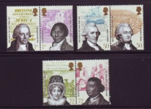 Great Britain Sc 2456-1 2007 Slave Trade stamp set mint NH